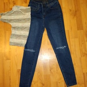 Rue21 Xtra high rise ankle jegging size 4